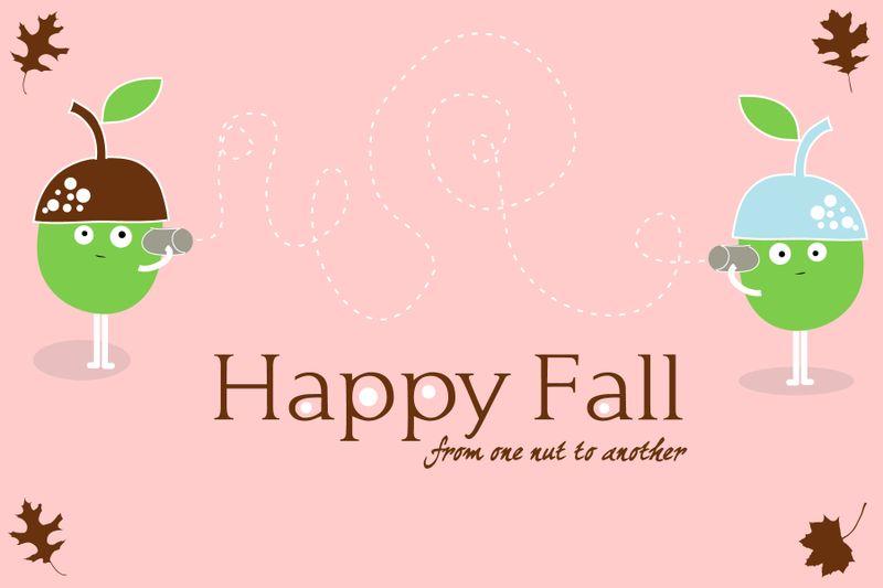 Happy Fall Notecard