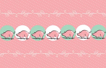 Piggy Christmas Paper2